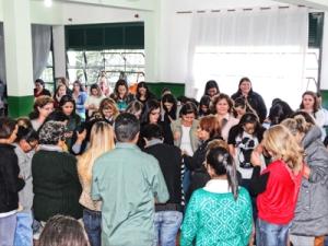 Grupo reunido no início da atividade